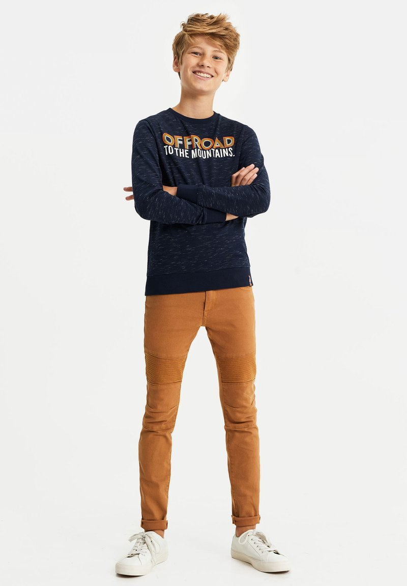 WE Fashion - MET TEKSTOPDRUK - Langærmede T-shirts - dark blue