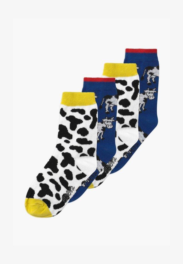 COW ANIMAL PRINT 4 PACK UNISEX - Sukat - aqua