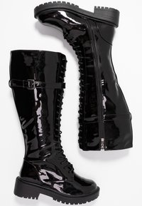 RAID Wide Fit - WIDE FIT  - Lace-up boots - black highshine - 3