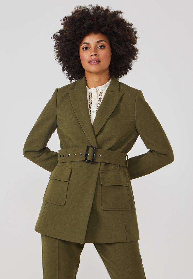 Aaiko - LARISE WO 577 - Short coat - dark olive