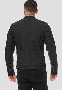 INDICODE JEANS - MANUEL - Leather jacket - black - 2