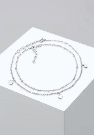 FUSSSCHMUCK DUO SET KUGELKETTE PLÄTTCHEN  - Bracelet - silver-coloured