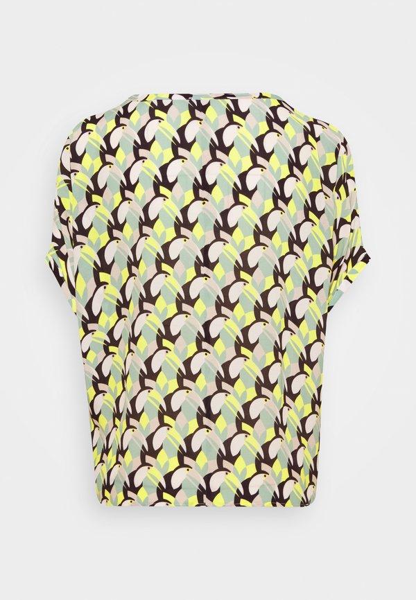 Seidensticker T-shirt z nadrukiem - gelb/żÓłty ODAX