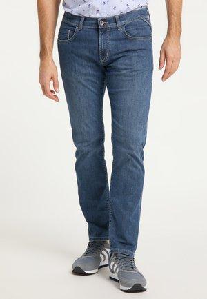 Straight leg jeans - stone used