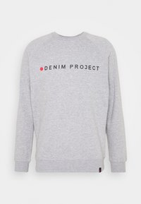 Denim Project - LOGO CREW - Felpa - mottled light grey - 4