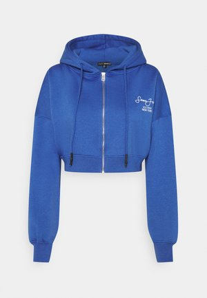 SJXMG ZIP THROUGH CROP HOODY - Zip-up hoodie - blue