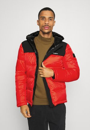 LEGACY HOODED JACKET - Sportovní bunda - red/black