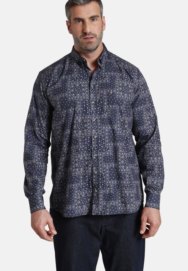Overhemd - dunkelblau bedruckt