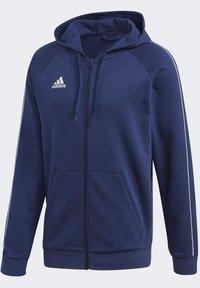 adidas Performance - CORE 19 HOODIE - veste en sweat zippée - blue - 8