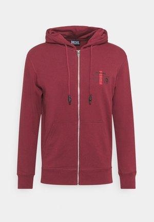 BRANDON - Zip-up sweatshirt - cordovan