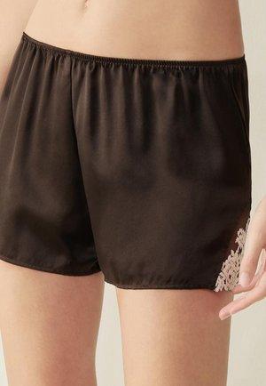 PRETTY FLOWERS - Pyjama bottoms - braun coffee brown