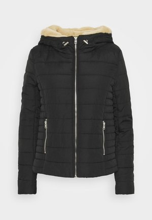 ONLSHELLY HOODED JACKET - Light jacket - black