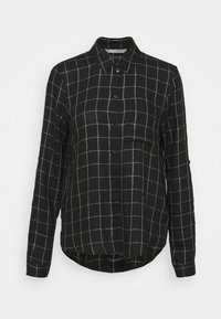 ONLY - ONLANNALIE - Button-down blouse - black/white - 4