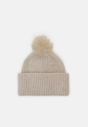 EFFORTLESS POM POM BEANIE - Čepice - grey