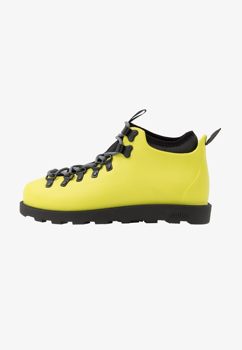 Native - FITZSIMMONS CITYLITE - Lace-up ankle boots - safety yellow/ jiffy black