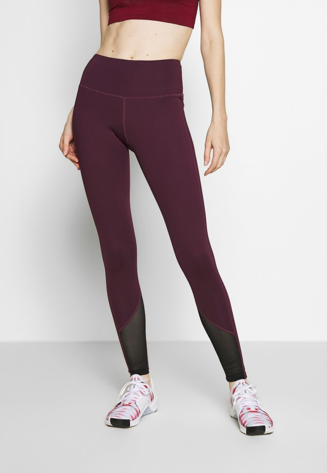 EXCLUSIVE LEGGINGS WITH PANELS - Leggings - plum