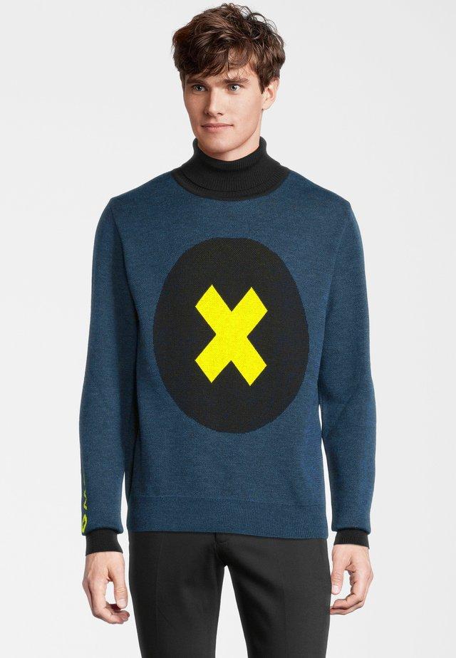 Pullover - blau gelb