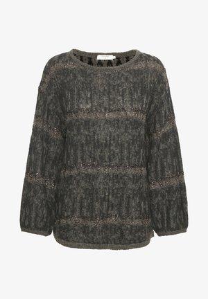 Pullover - grey melange metallic jaquard