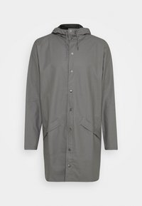 Rains - LONG JACKET UNISEX - Waterproof jacket - smoke - 1