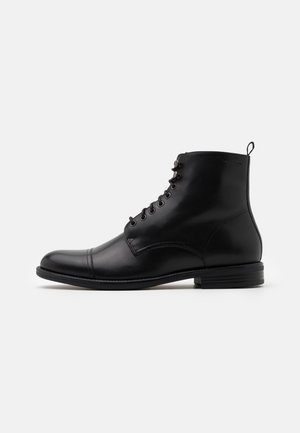 SALVATORE - Lace-up ankle boots - black