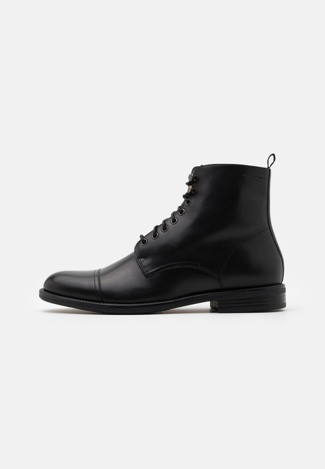SALVATORE - Bottines à lacets - black