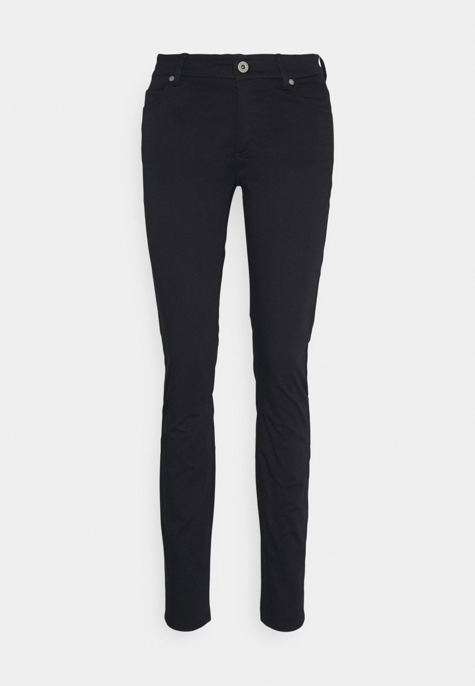 Women 5 POCKET MID WAIST SLIM LEG - Trousers