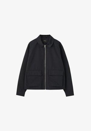 Lehká bunda - mottled dark grey