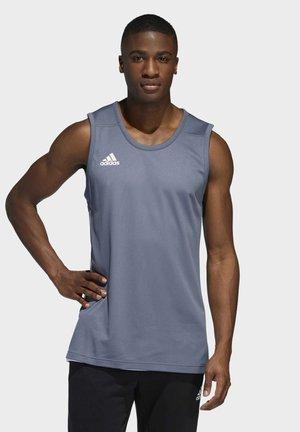 3G SPEED REVERSIBLE BASKETBALL TEAM AEROREADY PRIMEGREEN SLEEVEL - Koszulka sportowa - onix/white