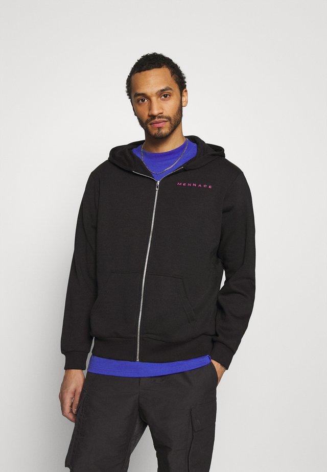 UNISEX ESSENTIAL ZIP TRHOUGH HOODIE - veste en sweat zippée - black