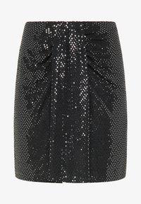 myMo at night - Mini skirt - silber schwarz - 4