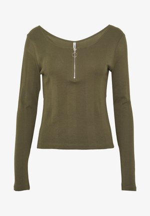 ONLRENI LIFE ZIP  - Long sleeved top - kalamata