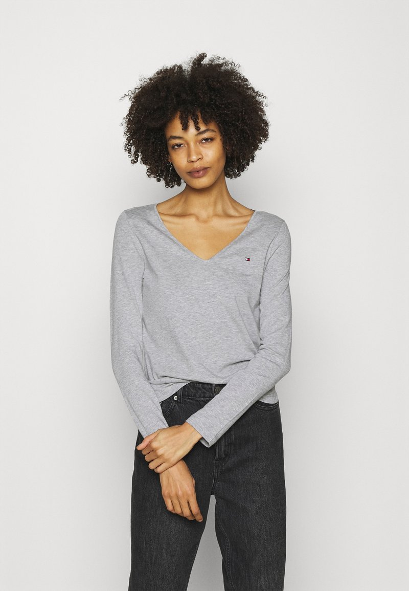 Tommy Hilfiger - REGULAR CLASSIC - Long sleeved top - grey