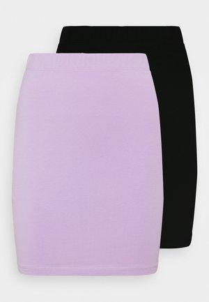 2 PACK - Mini skirt - black/lilac