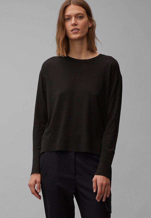 PURE AUS FEINSTER MERINO-WOLLE - Sweater - pure black