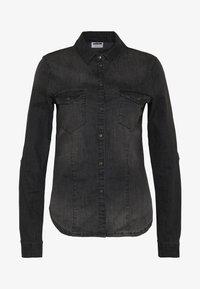 Noisy May - NMDILEM SLIM - Skjorte - black denim - 4