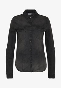 NMDILEM SLIM - Camisa - black denim