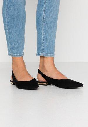 BLAKE - Slingback ballet pumps - black