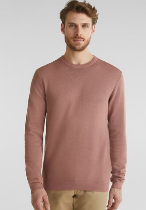 Pullover - mottled light pink