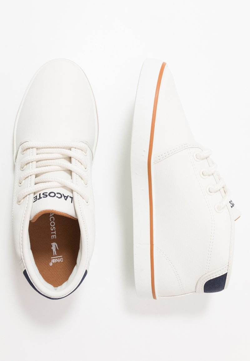 Lacoste - AMPTHILL - High-top trainers - offwhite/navy
