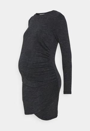 DRESS - Pouzdrové šaty - charcoal melange