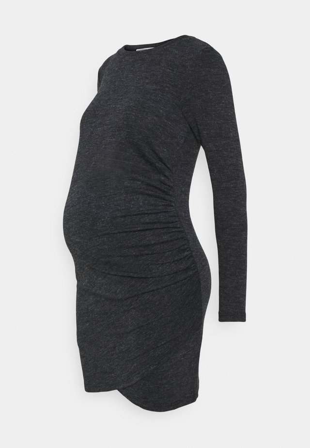 DRESS - Shift dress - charcoal melange