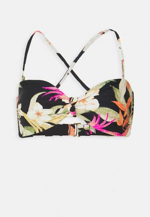 NORTH SHORE KNOT BANDEAU - Bikini top - black