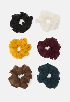 ONLKELLY SCRUNCHIE 6 PACK - Hårstyling-accessories - cloud dancer/green gable/woods/black