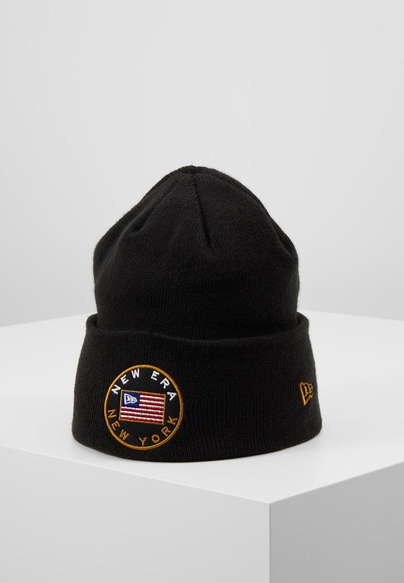 New Era - FLAGGED CUFF - Gorro - black