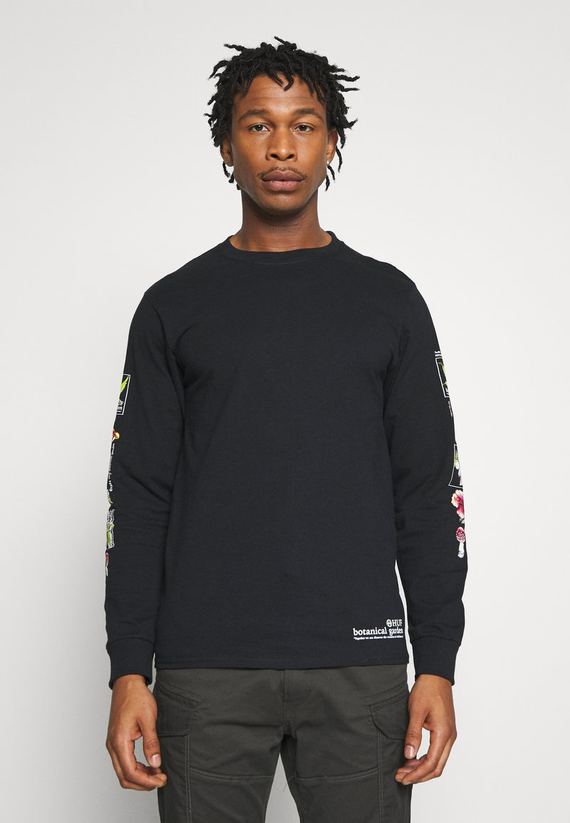 HUF - BOTANICAL GARDEN TEE - Long sleeved top - black