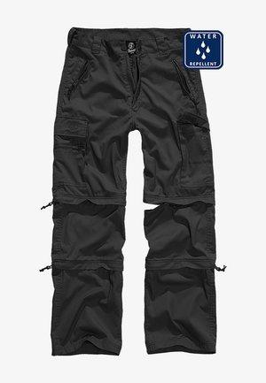 SAVANNAH - Cargo trousers - black