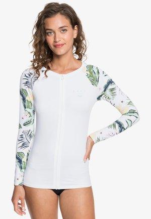 Long sleeved top - bright white praslin