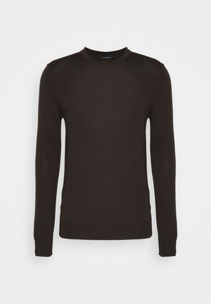 LYLE CREW NECK - Stickad tröja - dark brown