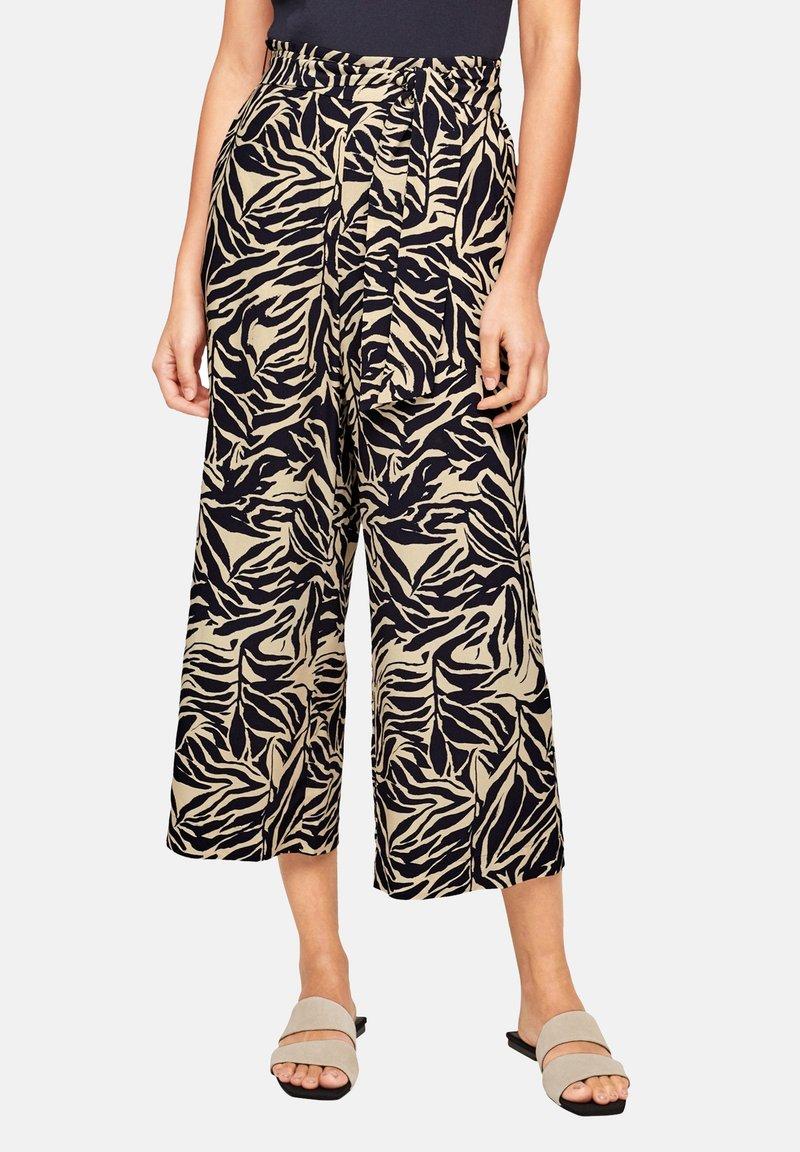 s.Oliver BLACK LABEL - Trousers - light beige aop