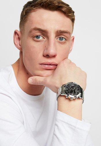 MENS DRESS - Chronograph watch - silver-coloured/black